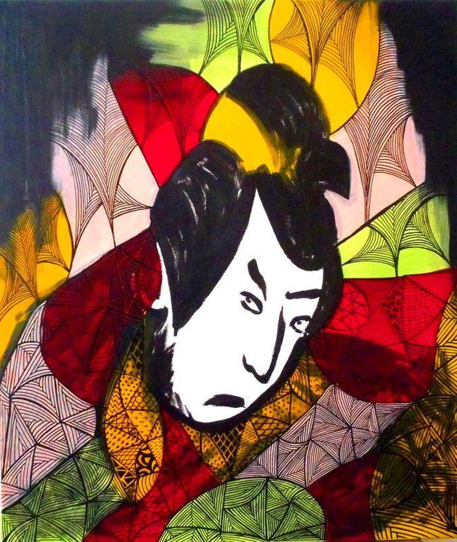 Samurai - Acrylic on canvas