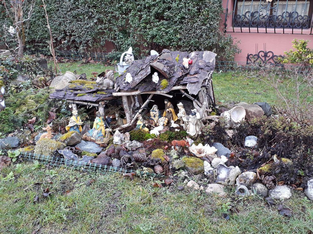 Décorations hivernales de mon village