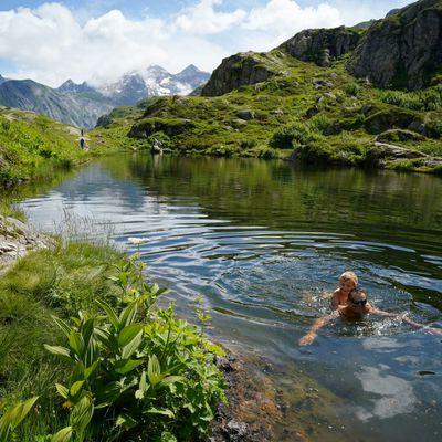boucle du Lauzon, ma première baignade en lac de montagne