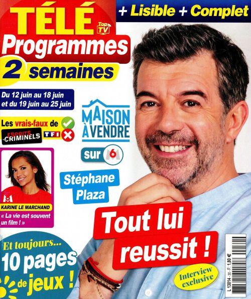 La une des nouveaux numéros de la presse TV : Philippe Bas, Kendji, M Pokora…