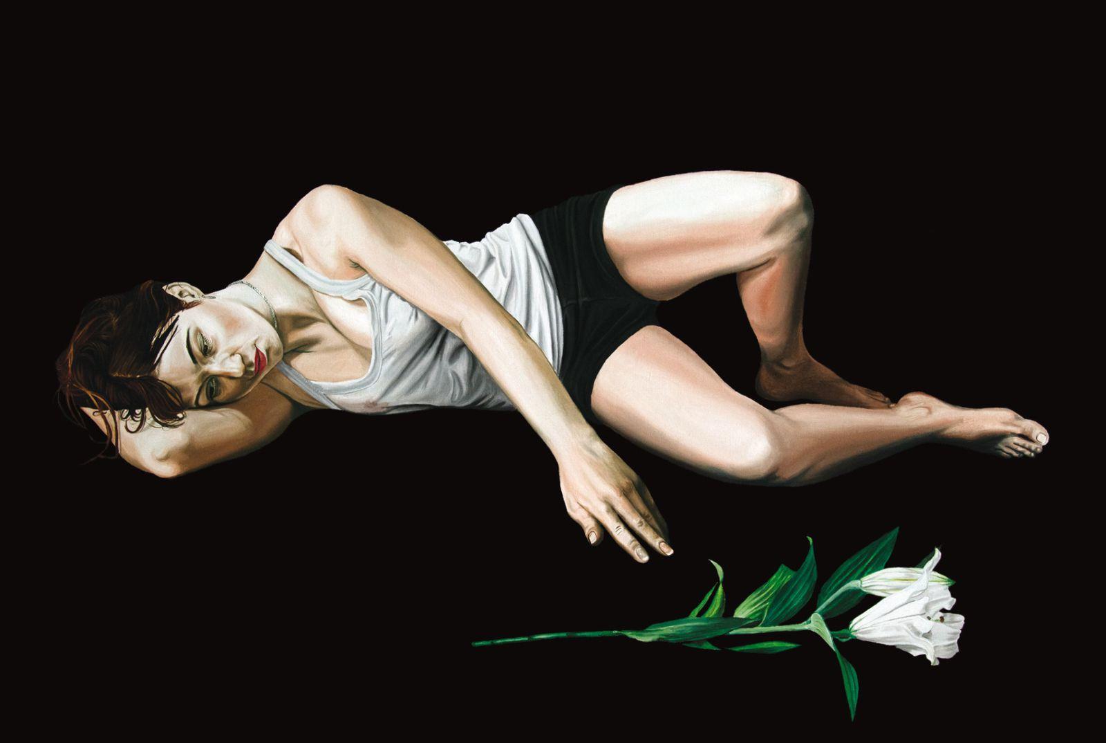 © Nicolas Maureau, Ophélie - série Mélancolie - Huile sur toile, 97 x 130 cm