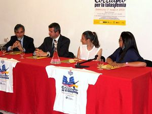 Due momenti della presentazione stampa dell'evento, avvenuto a Villa Niscemi a palermo, lo scorso 14 maggio 2015