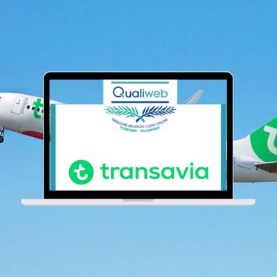 Trophée Qualiweb 2021 : Transavia récompensée pour la qualité de sa Relation Client Online