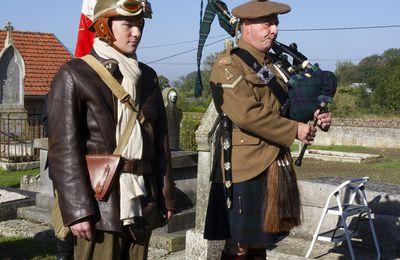 La lecture du poème aux soldats de Renansart 09 octobre