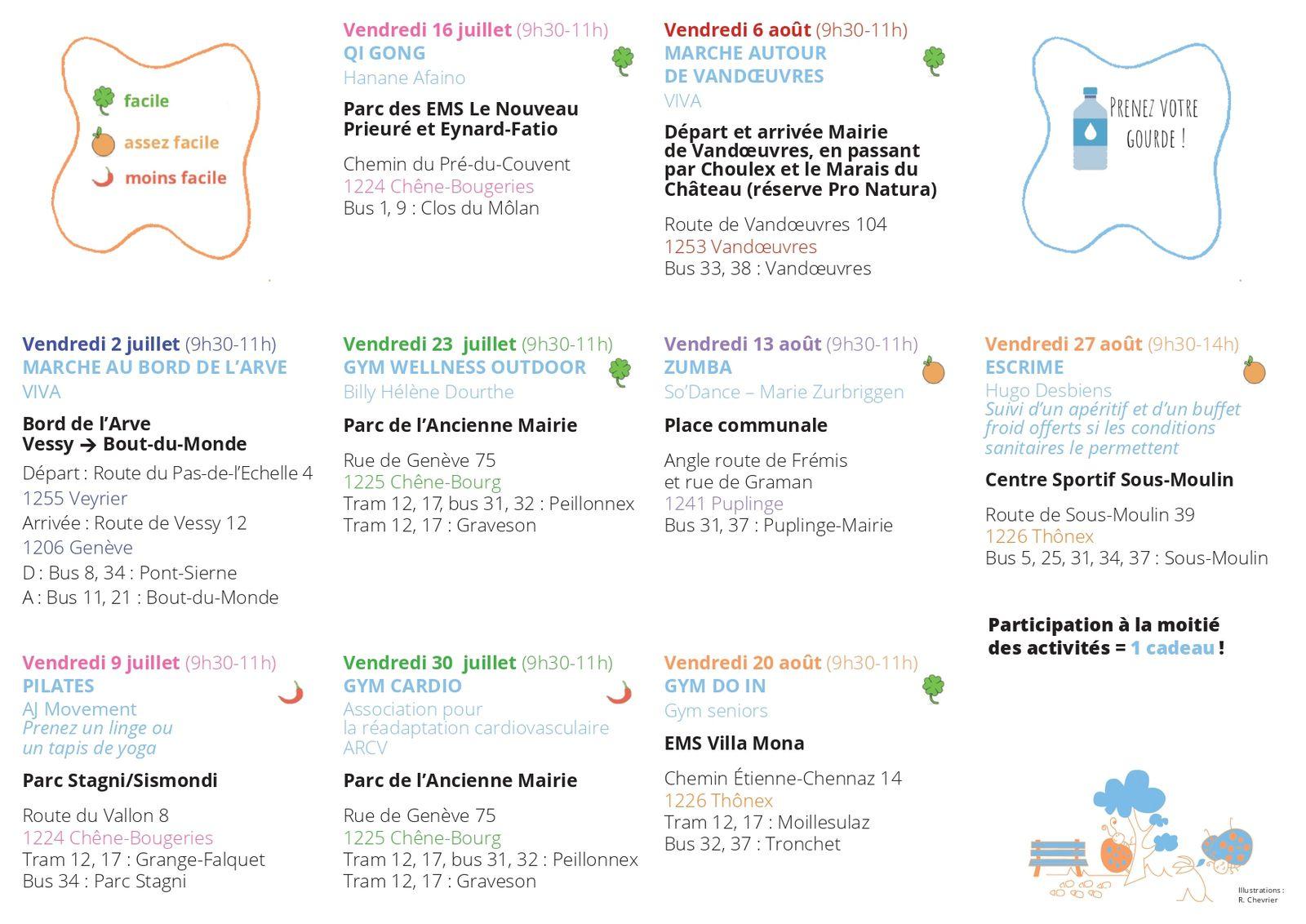 Passeport Santé 2021 - Le programme de la Rive Gauche est terminé