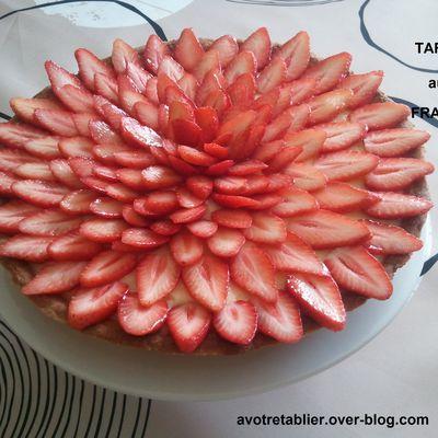 Tarte aux fraises et sa crème pâtissière maison