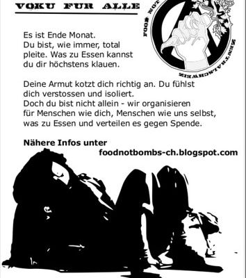 Food not bombs @ Piratenbar, i45, Zug