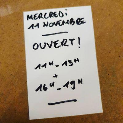 Ouvert ce mercredi 11 novembre