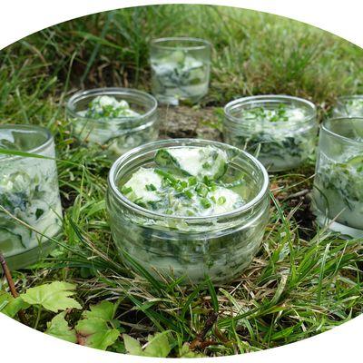 Verrines concombre & laitue de mer - IG Bas