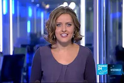 2012 01 19 @21H00 - LAURA BAINES, FRANCE 24, LIVE FROM PARIS
