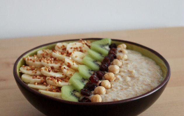 Porridge banane et kiwi