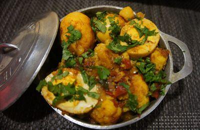 Curry d'œuf Mauricien-Rougail Dizef