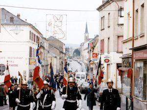 Sainte-Barbe des Sapeurs-Pompiers à Algrange en 1996