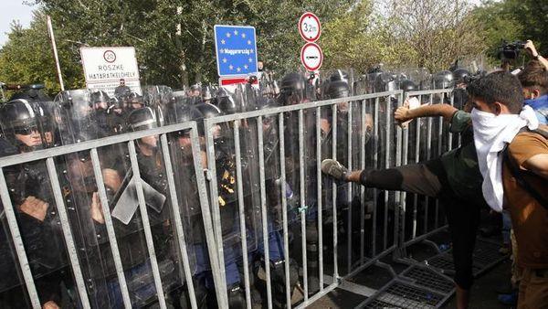 INVASION DE L'EUROPE : À LA FRONTIÈRE HONGROISE, LES « MIGRANTS » MONTRENT  ENFIN LEUR VRAI VISAGE…
