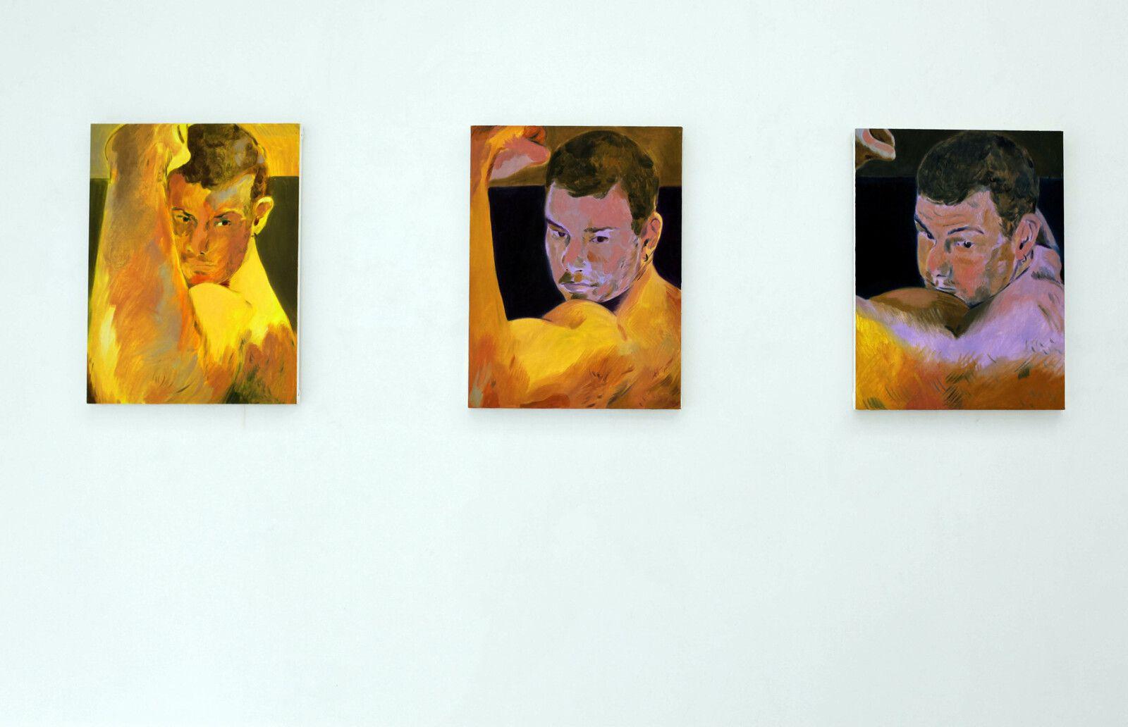 """Devirosflexing I, II, II"", 2020 de Anthony CUDAHY - Courtesy de l'artiste et de la Galerie Semiose © Photo Éric Simon"