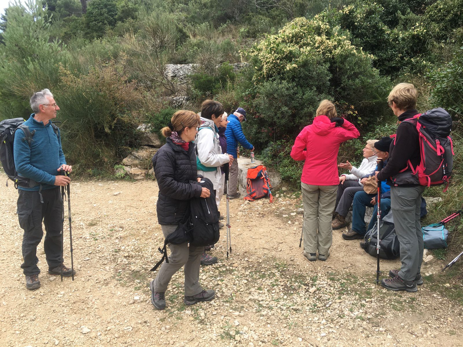 Un petit groupe de 10 dans le parc de la Nègre... Beaucoup de bonne humeur, une superbe journée !!!