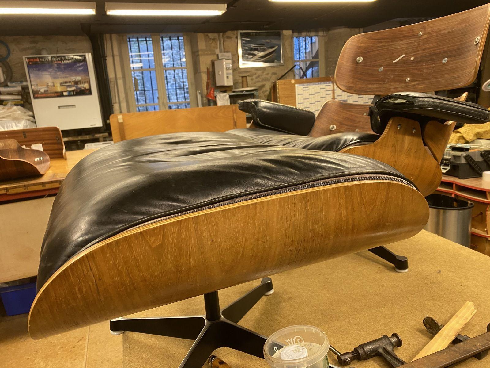 Patine des cuirs de  Eames