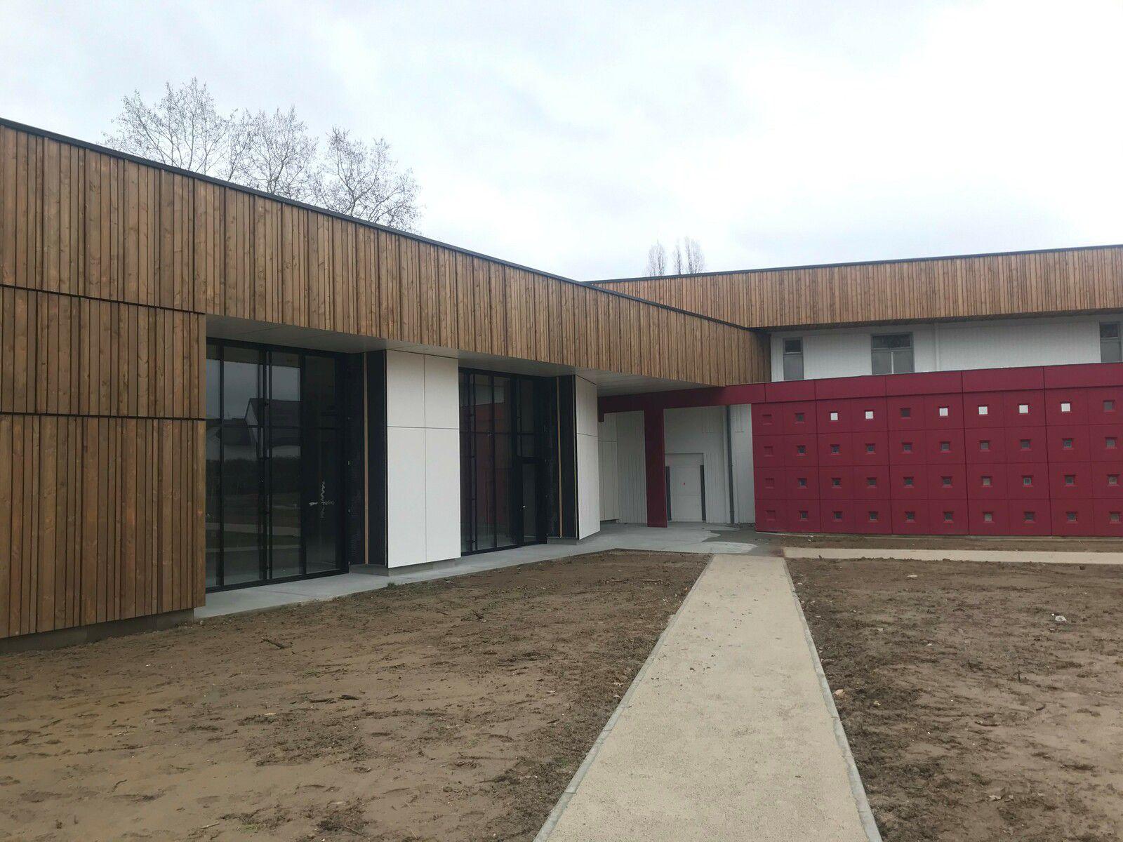 Visite de chantier de la nouvelle maison de quartier de La Madeleine