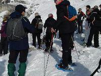 Vers le mont Bochor ; goûter au mont Bochor et vin chaud à l'arrivée.