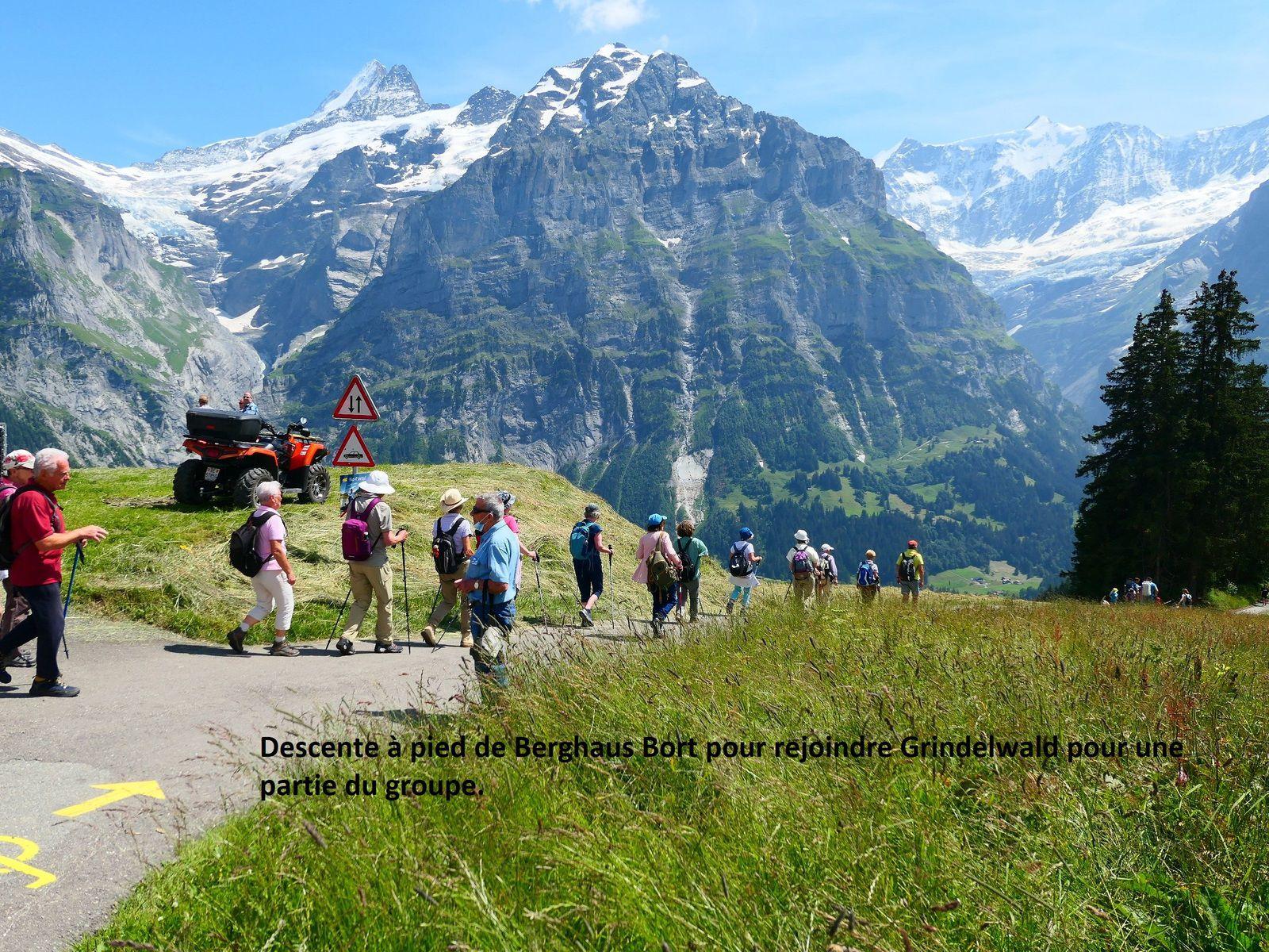 Sortie séniors du 21 juillet 2021 : Sortie en Suisse à Grindelwald