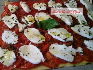 Tarte fine tomates mozarella
