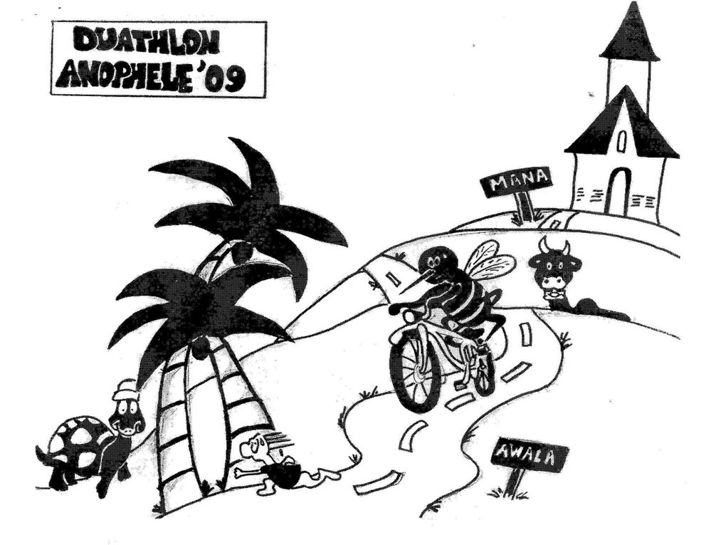 Un déplacement des Taquets dans l'ouest Guyanais pour le duathlon de Mana, entre les rizières et la route d'Awala...