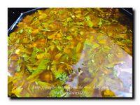 Crevettes marinées accompagnées de riz  et réduction de la marinade