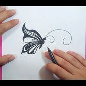 Como dibujar una mariposa paso a paso 16   How to draw a butterfly 16
