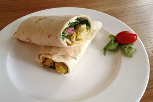 Wrap de poulet au curry