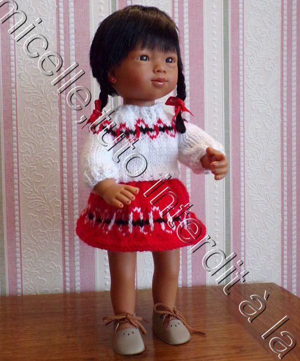 tuto gratuit  poupée  : pull inspiration Maya