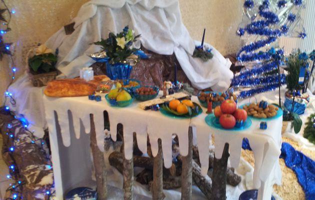 Décoration de Noël bleue et argentée!