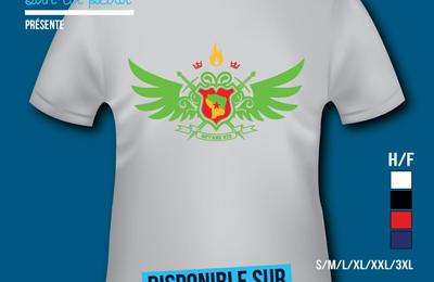 T-shirt France: Guyane 973 - Bannière - Badge.
