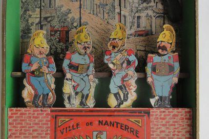 jeu de tir Saussine : les pompiers ,ville  de Nanterre