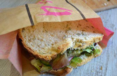 Sandwich crudités et parmesan