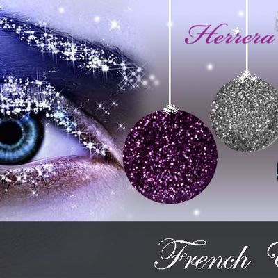 Gel uv - French intense en paillettes