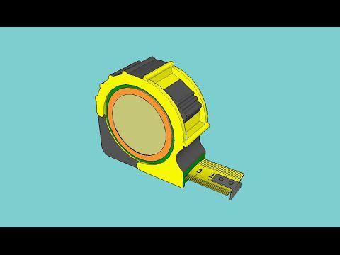 Modèle Sketchup: Mètre à Ruban