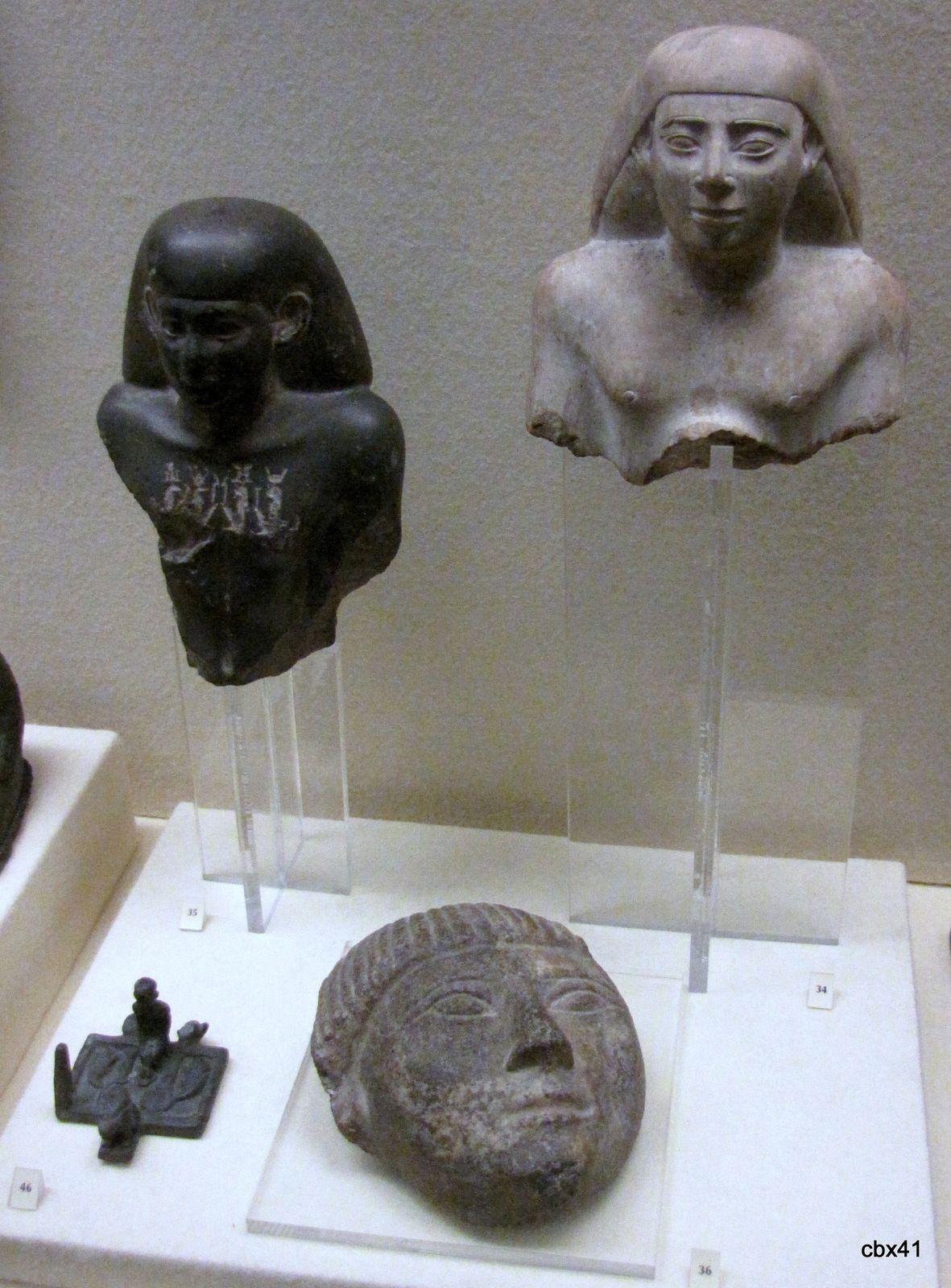 Bustes d'Hereferneith et d'Hor(em)Akhbit, musée de Picardie