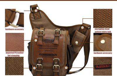KAUKKO FH03 Vintage Style 5L Male Sling Bag €16.20