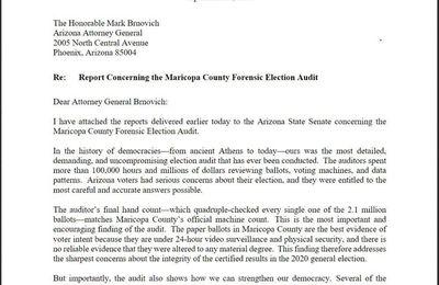 #USA : L'#audit du comté de #Maricopa a été transmis au procureur général de l'#Arizona pour la suite 🔥🔥🔥🔥🔥🔥🔥