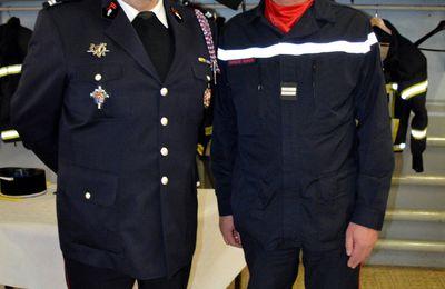 Passation de commandement chez les Sapeurs-Pompiers à Algrange en 2019