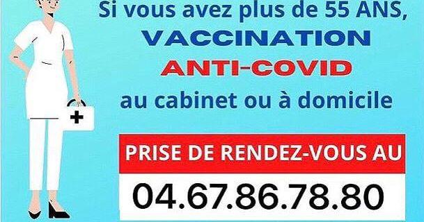 A Valergues les plus de 55 ans peuvent se faire vacciner au cabinet infirmier ou à domicile