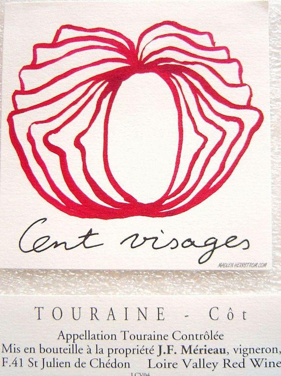 Les étiquettes du SIGNE du Trait (Design) qui caractérisent les vins contemporains ouverts sur l'émotion