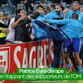 Patrice Evra dérape en frappant des supporteurs de l'OM ! #clash - SANSURE.FR
