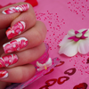 Water Marble / 5ème ! St valentin nail art