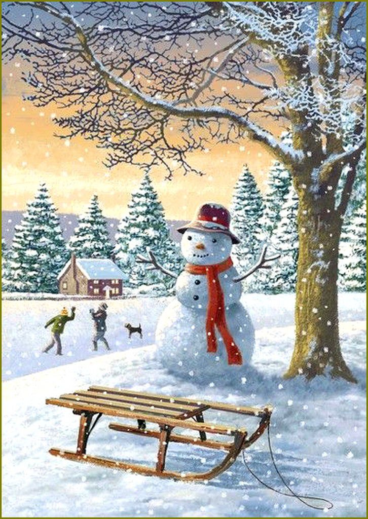 Bonhomme de neigeen illustration-Victor Mclindon
