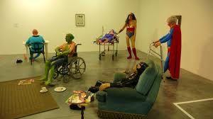 Gilles Barbier a voulu connaître le vieillissement des héros de bandes dessinées. Ils se retrouvent donc en maison de retraite !