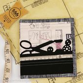 Sizzix Die Cutting Inspiration and Tips: Sewing Edge Needlebook