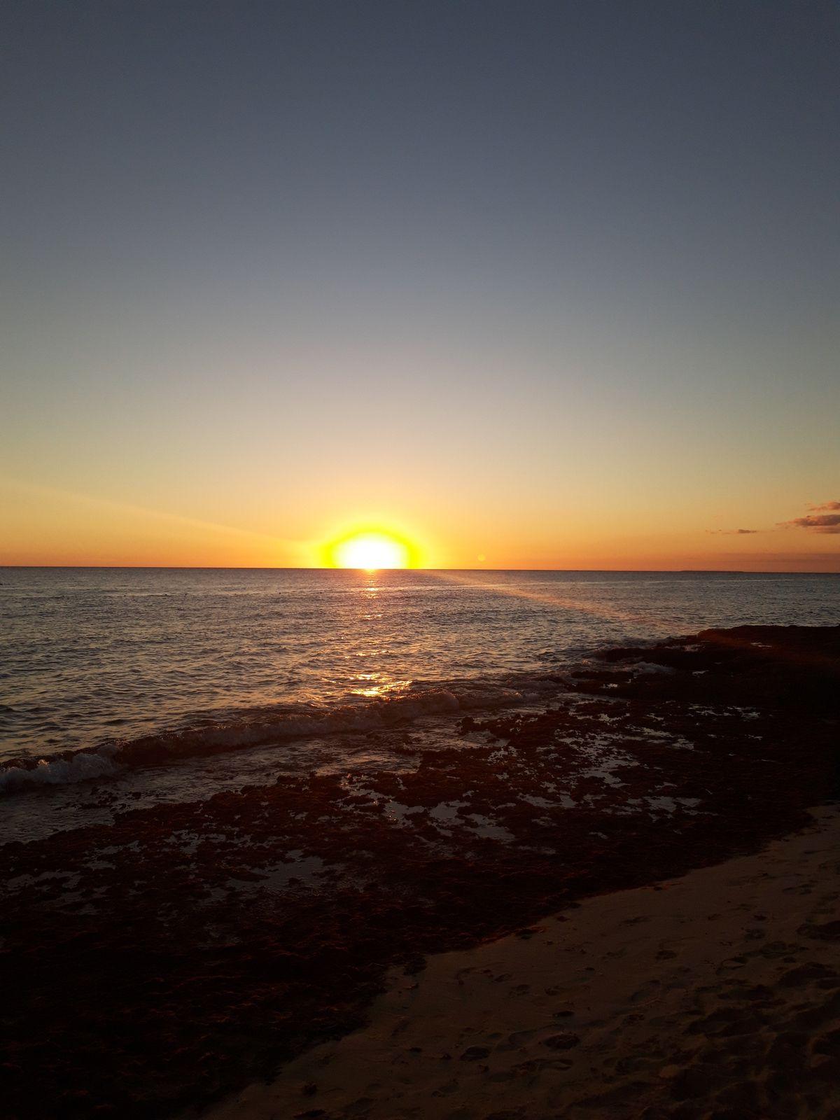 Coucher de soleil sur la mer des Caraïbes
