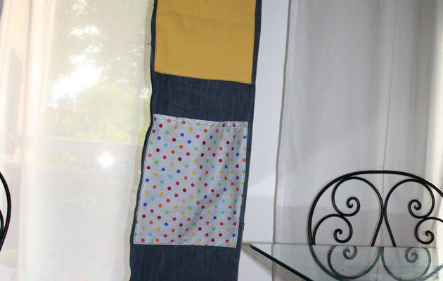 Rangement mural tissu