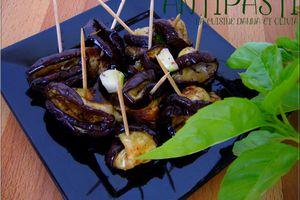 Antipasti : aubergines marinées